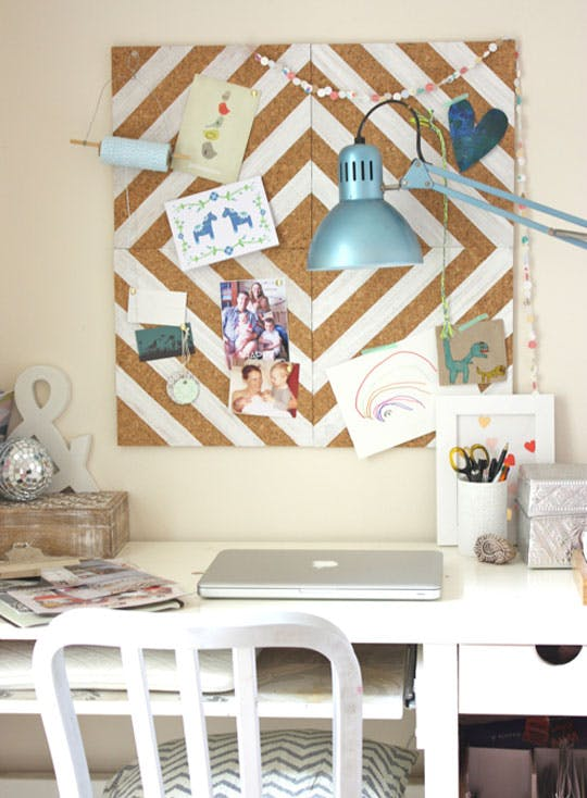 DIY Home Office Corkboard | Apartment Therapy