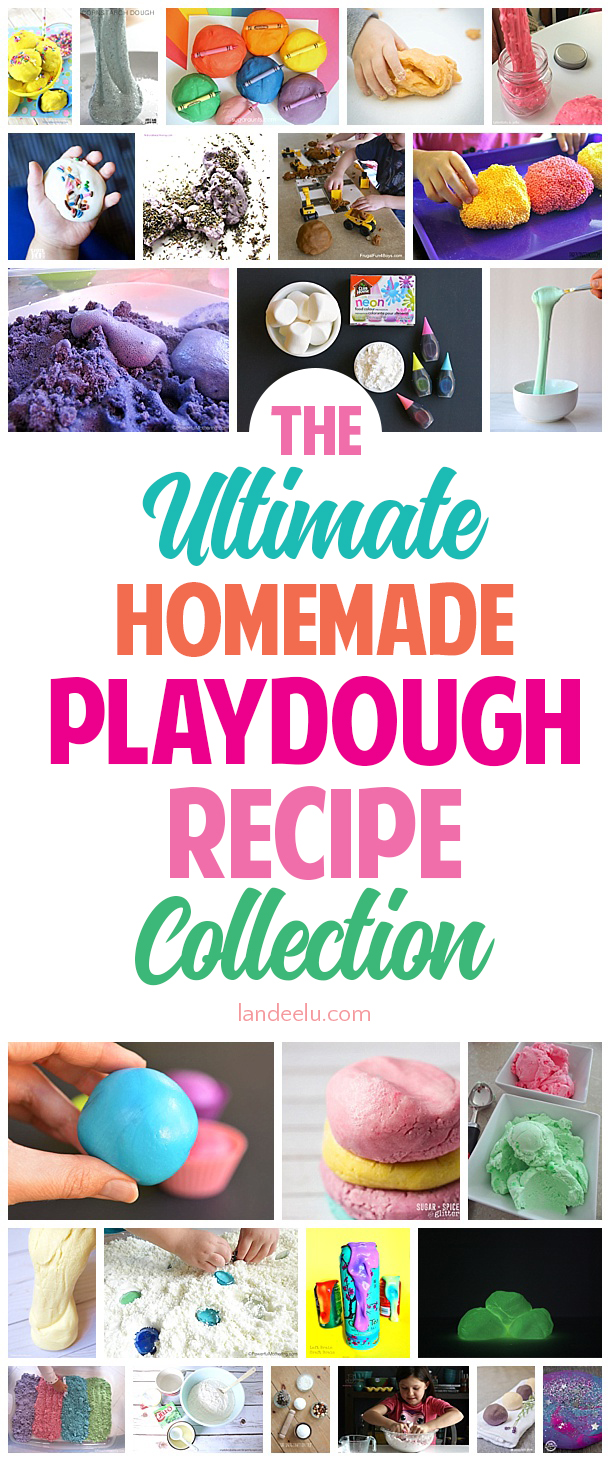 The Ultimate Homemade Playdough Recipe Collection! Find your new favorite play doh recipe! #playdough #homemadeplaydough #kidsactivity #playdoughrecipe #playdoh