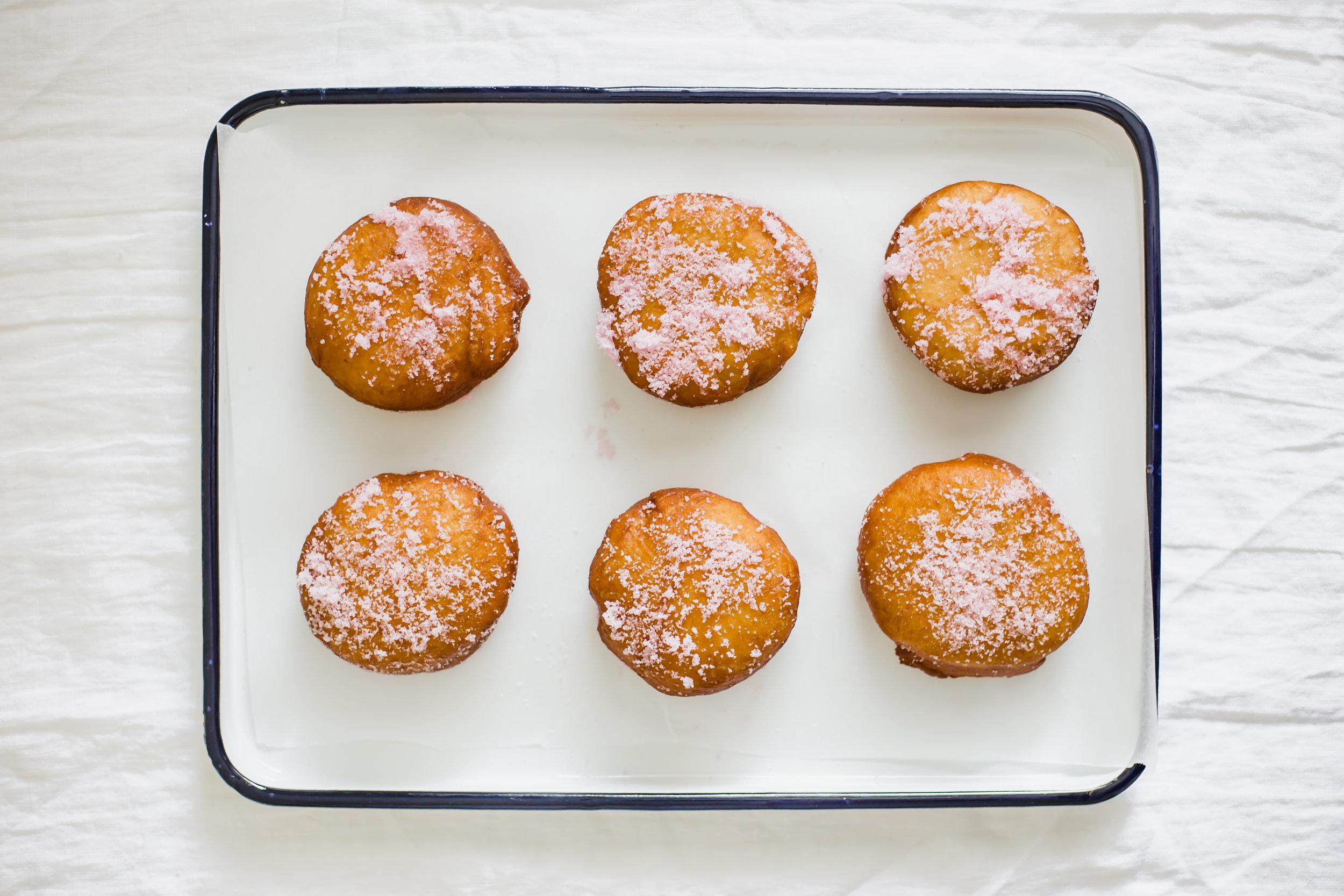 Pomegranate Cream Doughnuts | Madeline Marie Hall