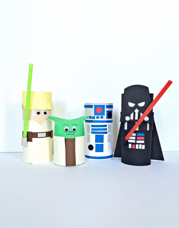 Star Wars Toilet Paper Roll Characters | Hello Wonderful