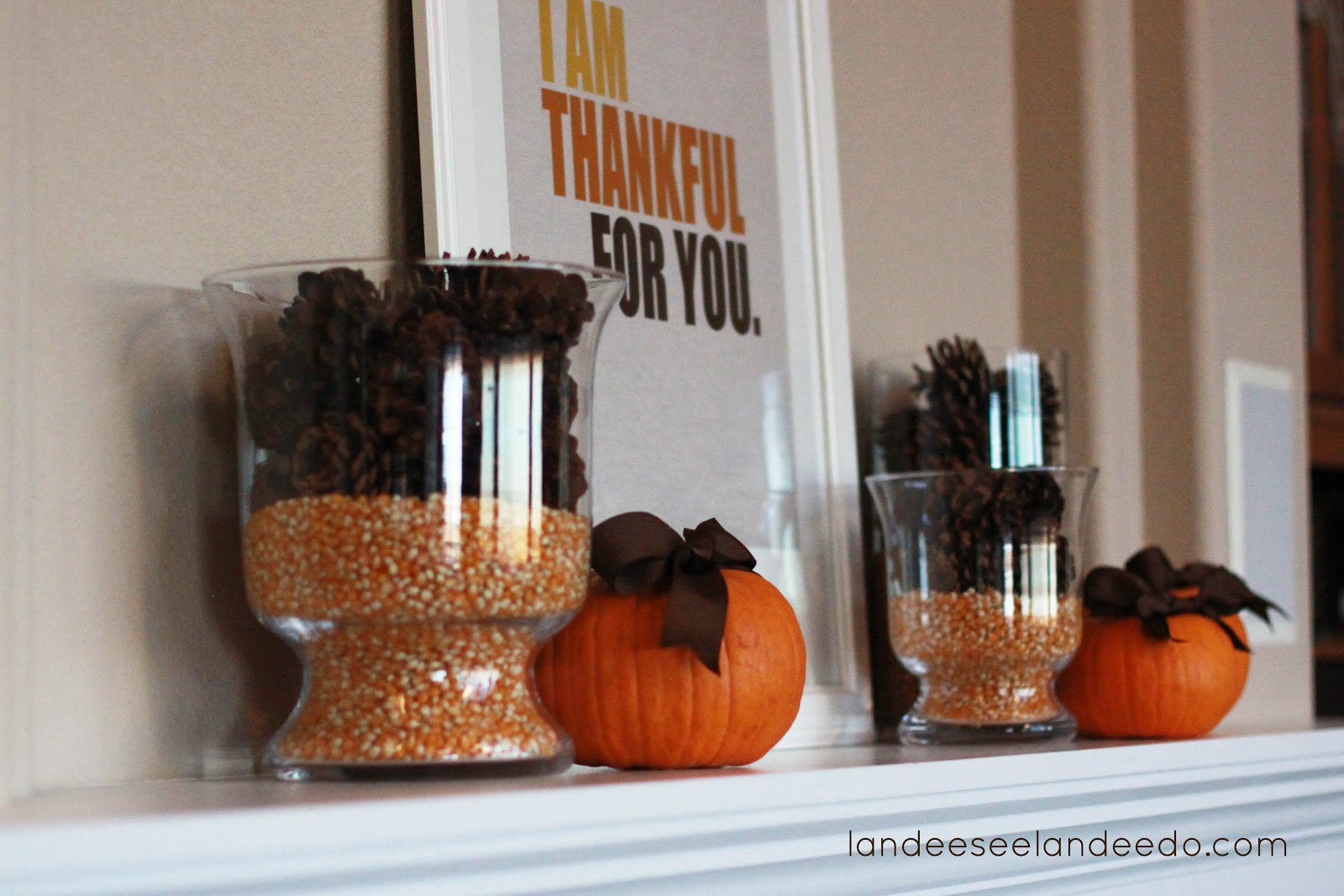 Thanksgiving decor mantle - Simple Thanksgiving Mantel Landeelu Com
