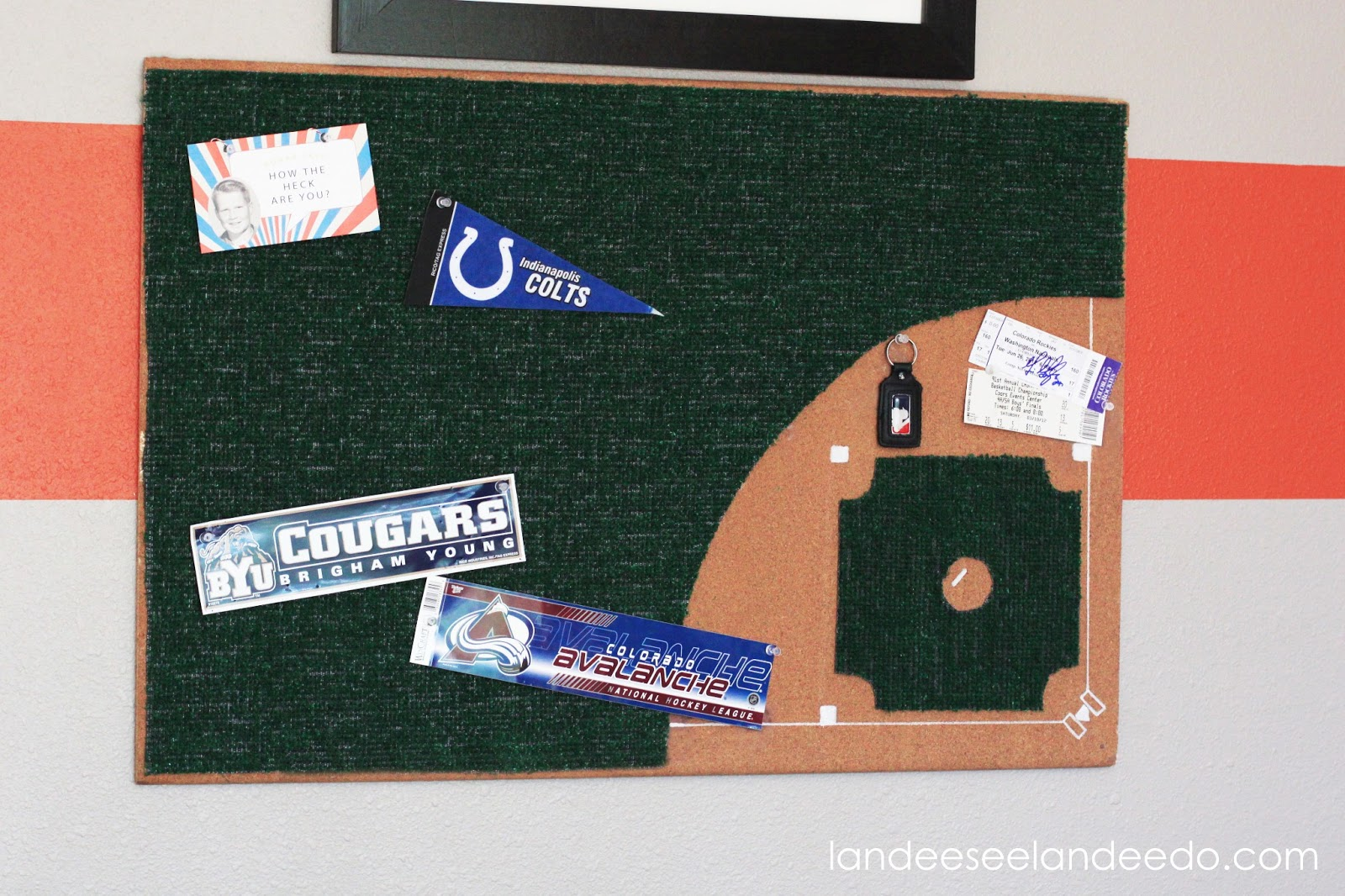 I Shared My Sons Complete Almost Room Makeover Last Week You Can See That HERE And Today Im Sharing How Made His Baseball Diamond Bulletin