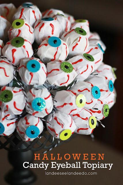 Halloween Candy Eyeball Topiary - landeelu.com