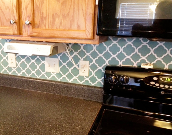 vinyl quatrefoil backsplash projects