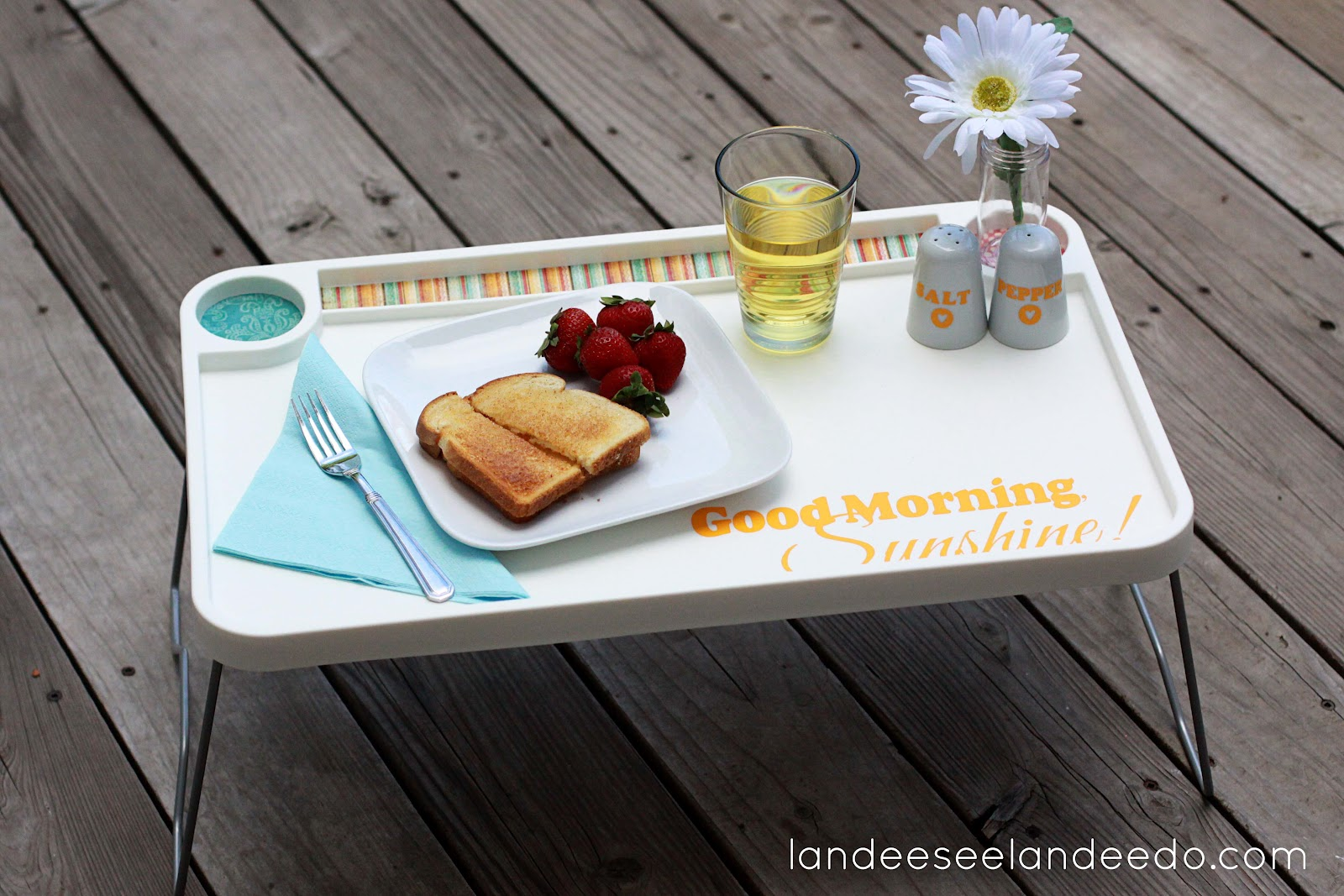 IKEA Hack Breakfast Tray Wedding Gift