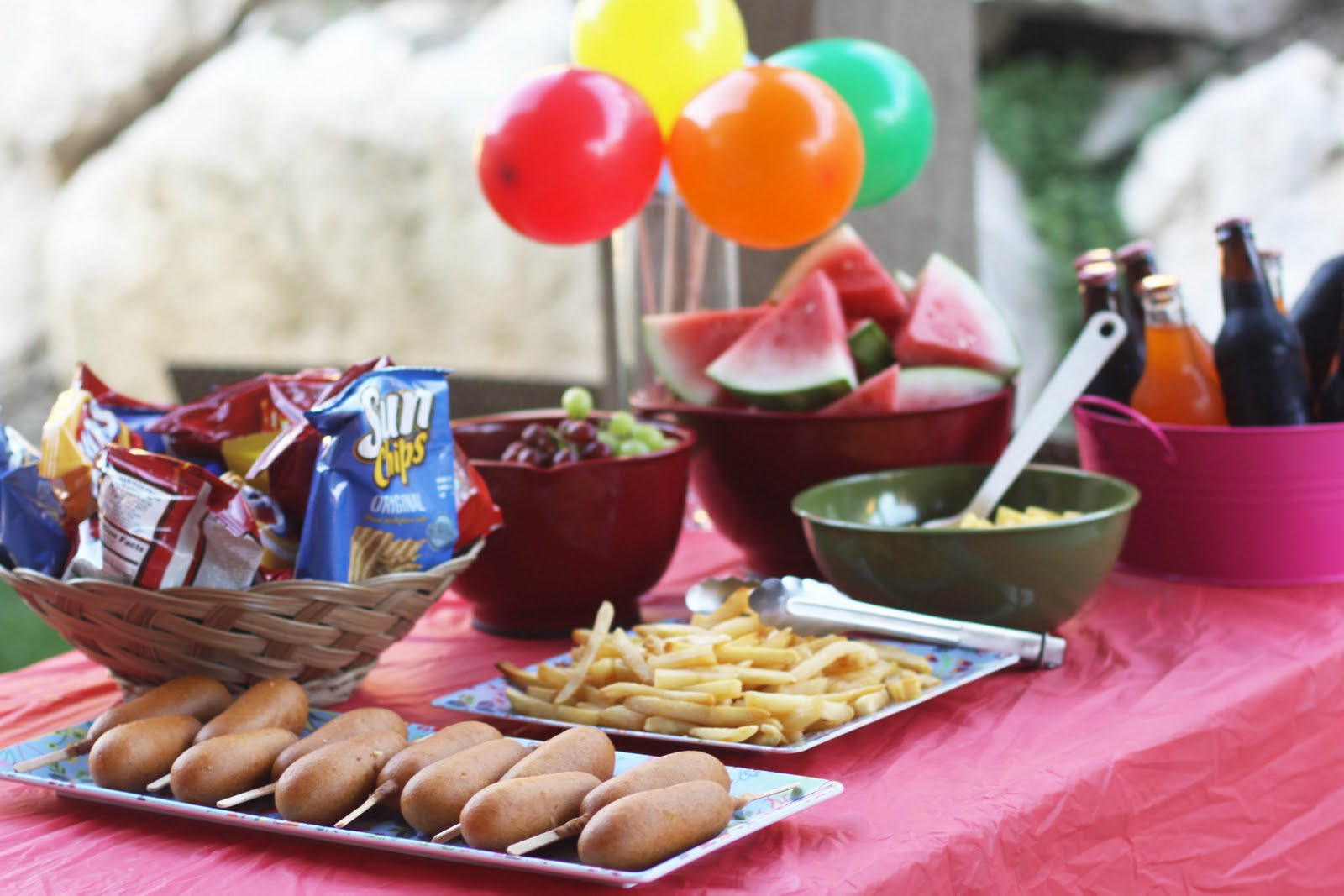 Summer activity idea cousin carnival for Summer food party ideas
