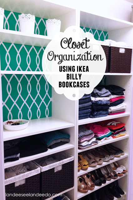 FAUX Built-Ins Ikea Hack via Landeelu - Closet Organization Ideas and Space Saving Hacks