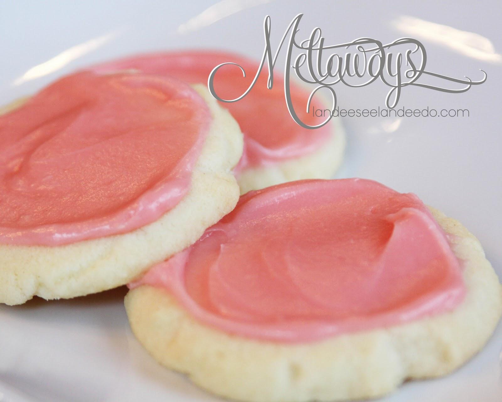 Cream cheese meltaways cookie recipe