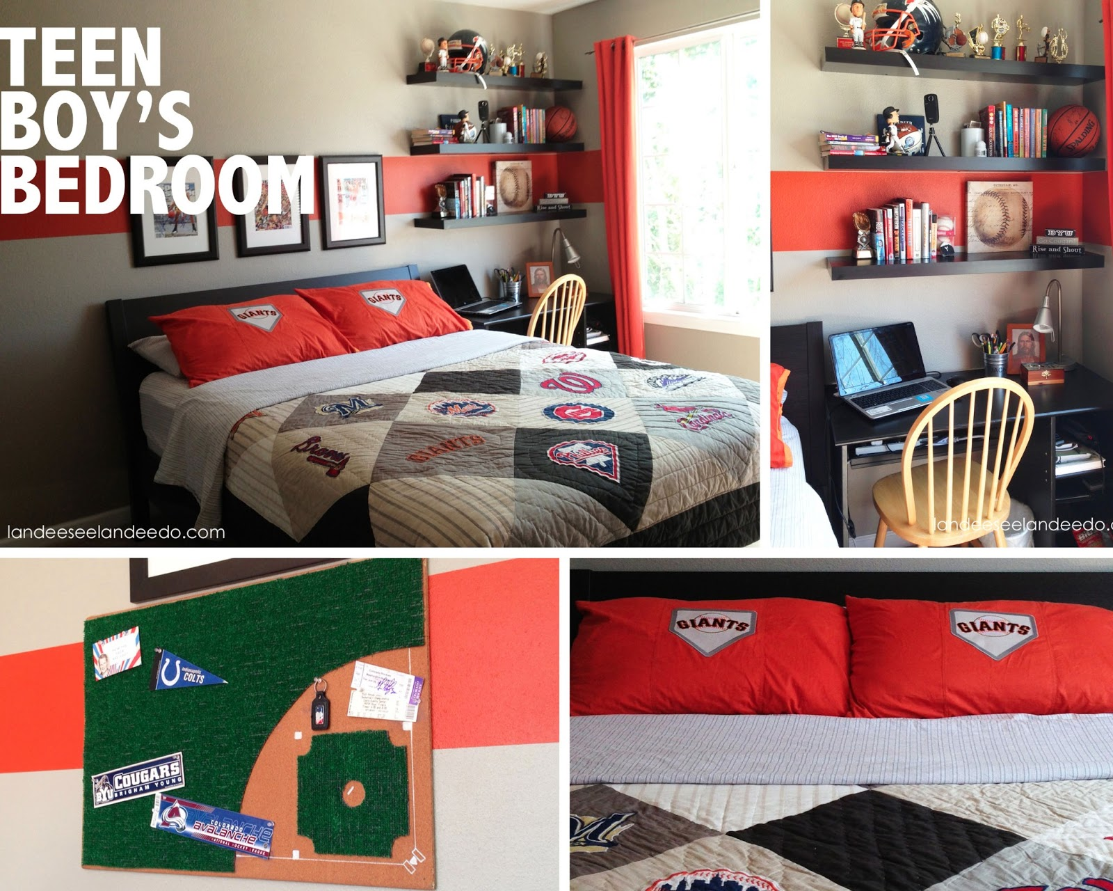 Teen Boy Bedroom Reveal - landeelu.com