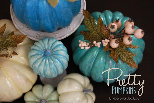 Pretty Fall DIY Painted Pumpkins Tutorial | Landeelu