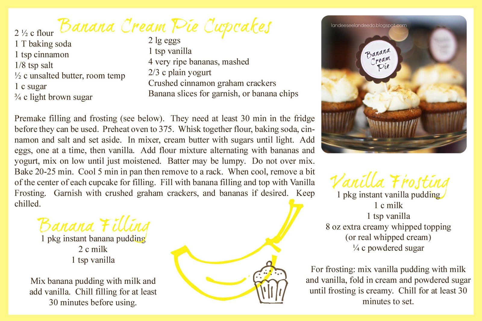 Banana Cream Pie Cake Recipe