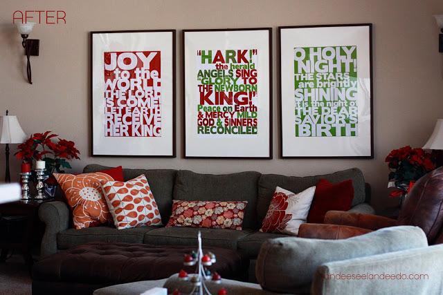 Go BIG or go HOME! Christmas Song Lyrics Free Printables   Landeelu