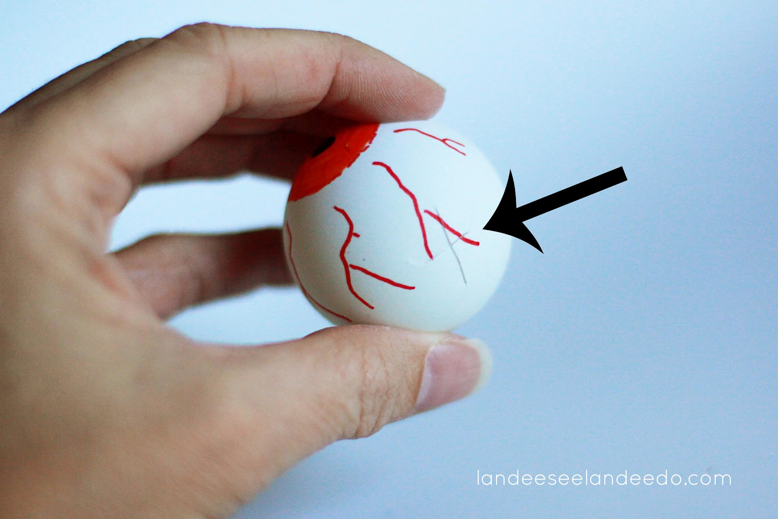 diy eyeball lights - Halloween Ping Pong Balls