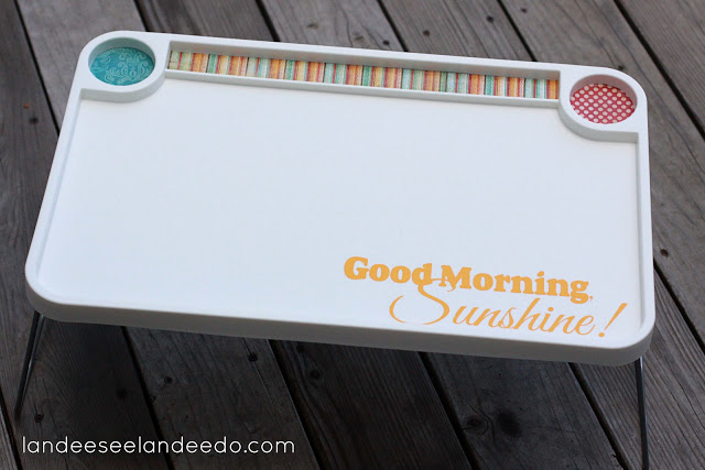 Ikea hack breakfast tray wedding gift for Plain white plates ikea