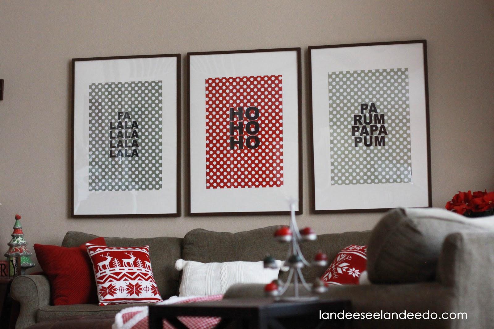 Free Large Christmas Wall Art- Polka Dots! - landeelu.com