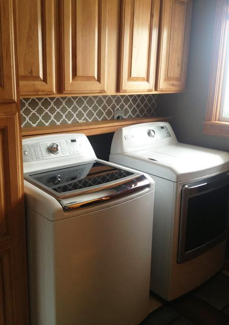 Vinyl Quatrefoil Backsplash Projects  Landeelum. 48 Table. Over The Sink Kitchen Light. Contemporary Pendant Lights. David Weekley Homes. Valances. Kitchen Clocks. Houston Custom Home Builders. Wood Flooring Ideas