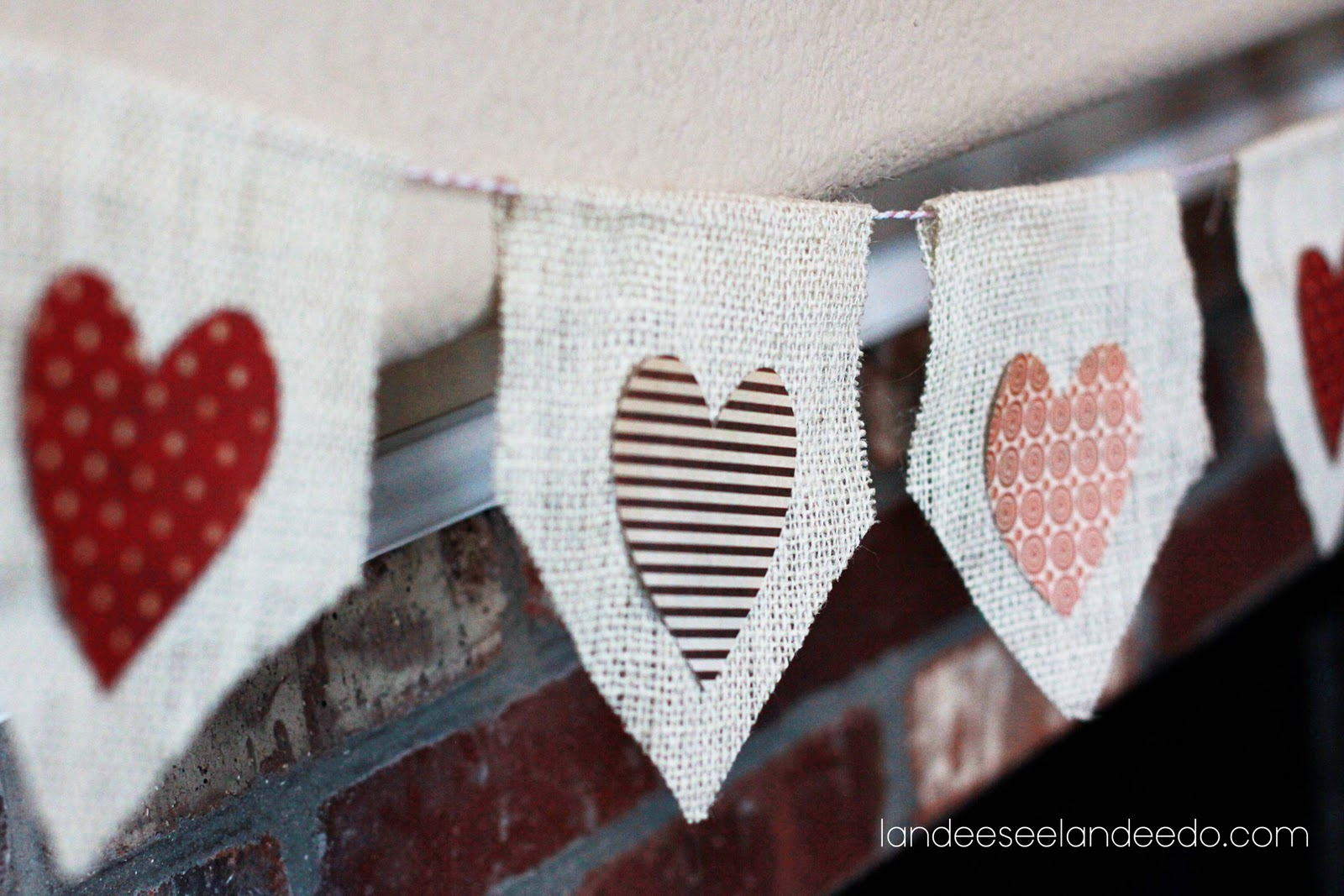 Be Mine Burlap Valentine Banner