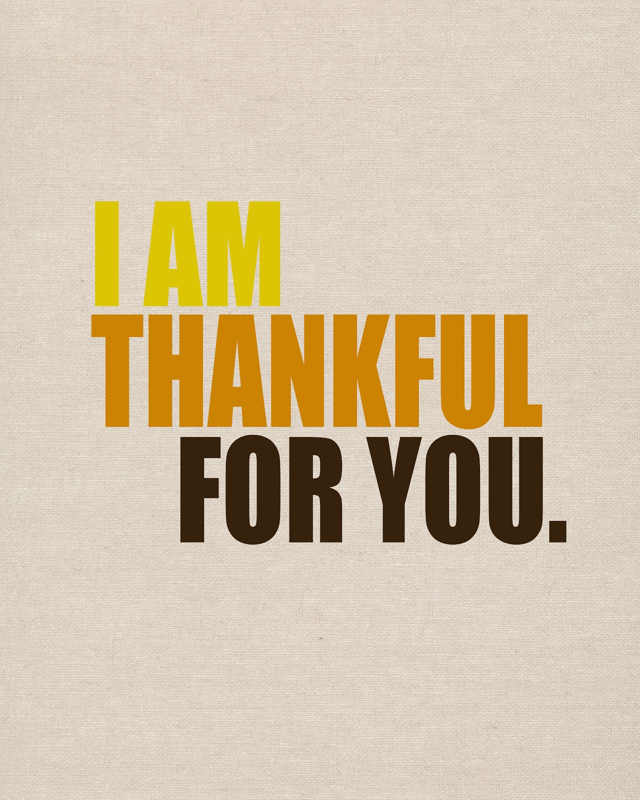 I Am Grateful For You Quotes Thankful For You Print...