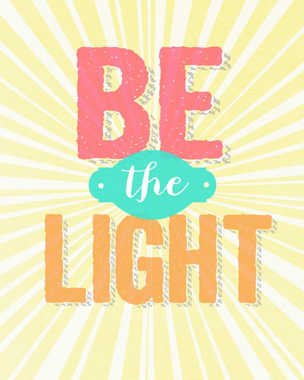 sunday encouragement 9 22 13 be the light   landeelu
