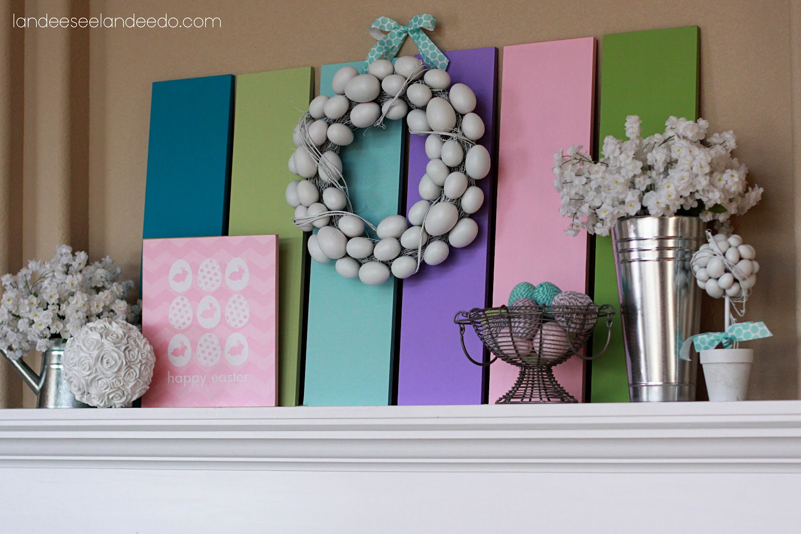Easter mantel for Diy easter room decor