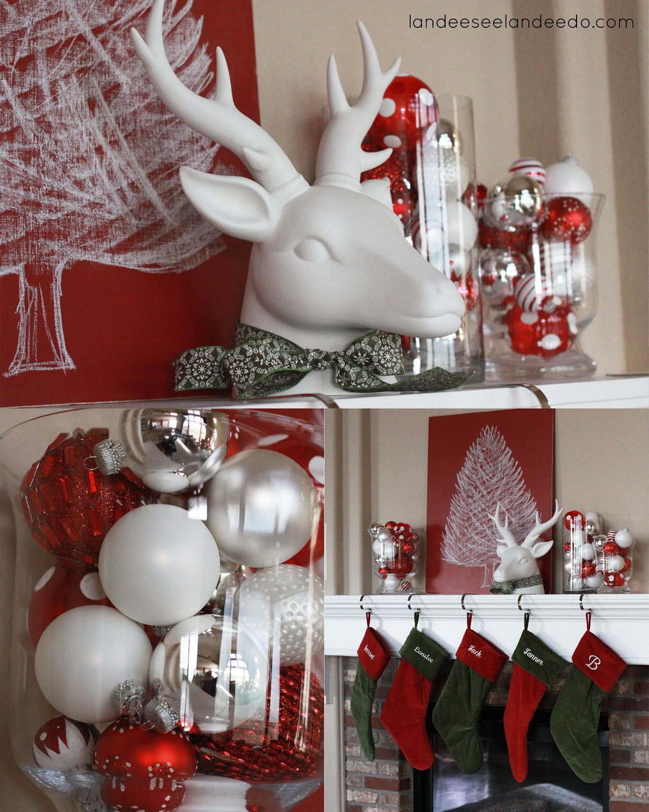 christmas mantel decor landeelu com