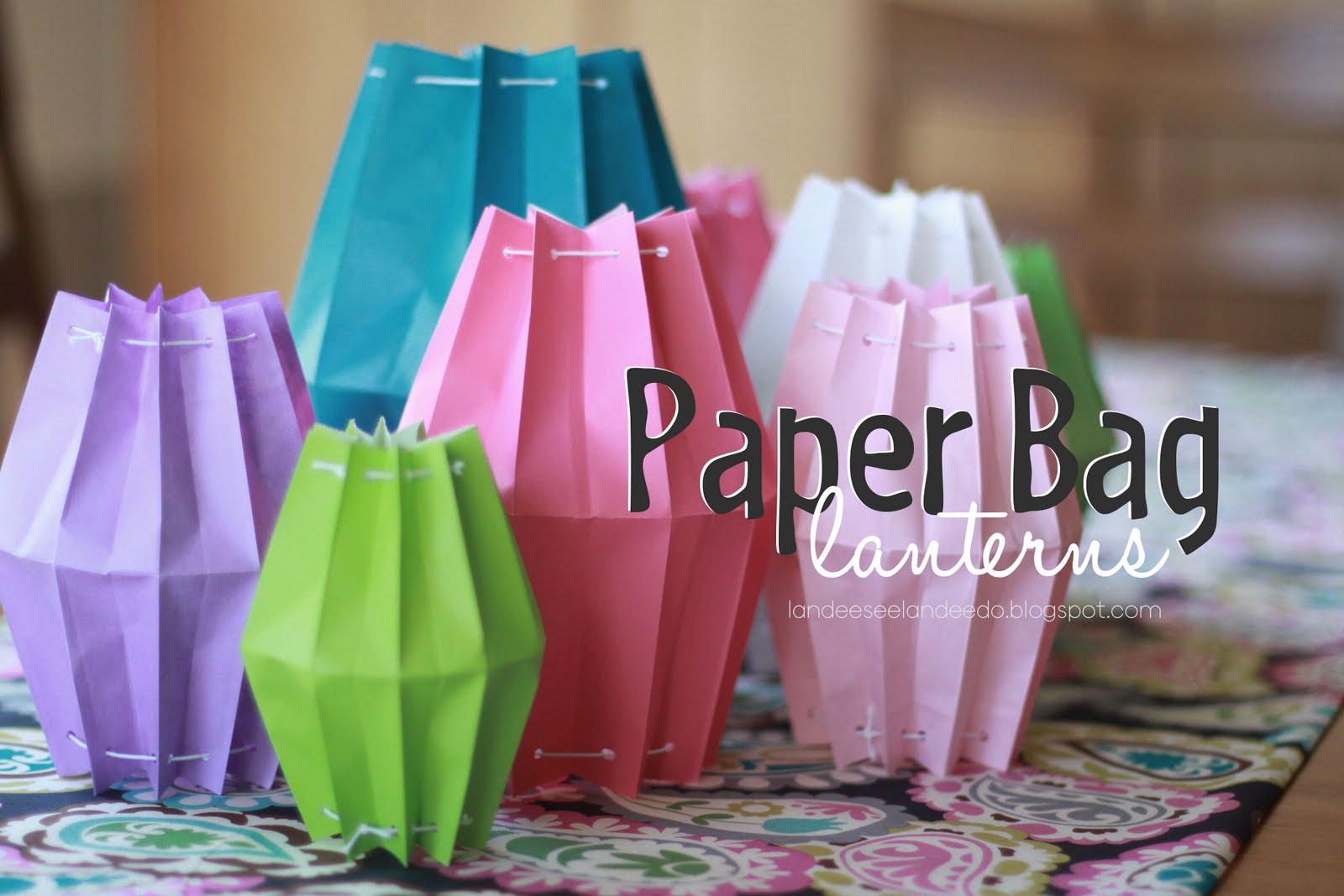 Paper bag lanterns for Bag decoration ideas