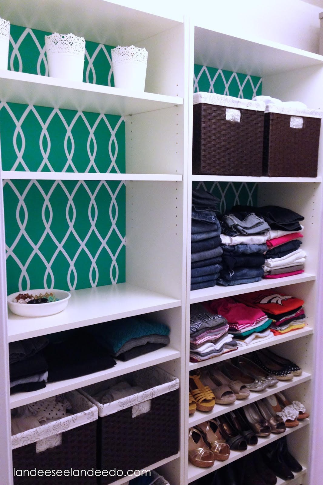 closet makeover ikea billy bookcases