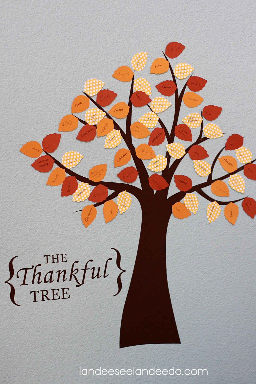 Festival of trees the thankful tree for Thankful tree craft for kids