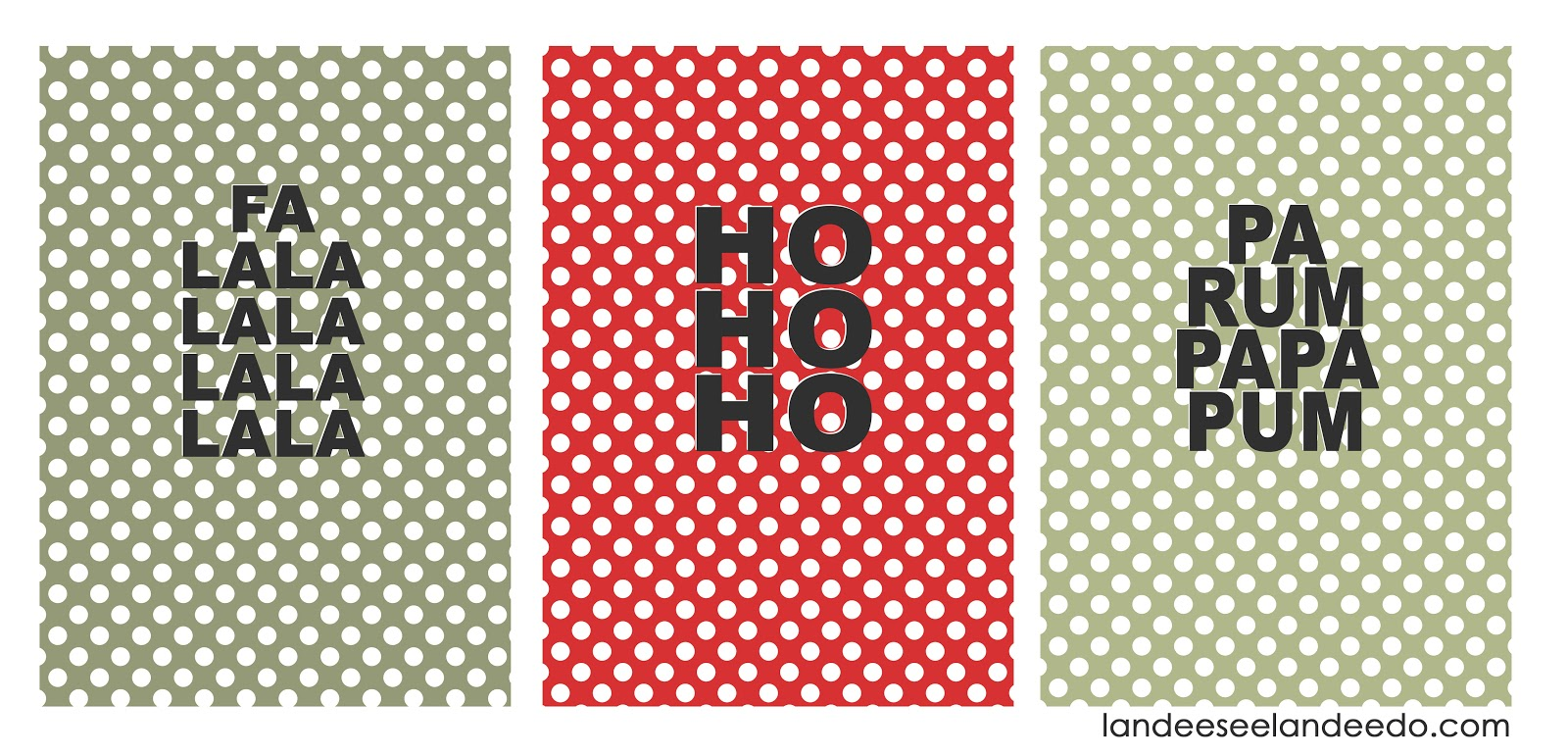 Free large christmas wall art polka dots landeelu
