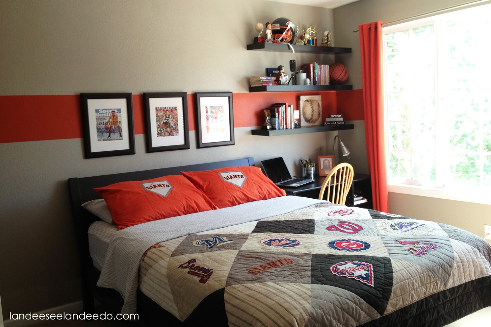 Teen boy bedroom reveal for Black and burgundy bedroom ideas